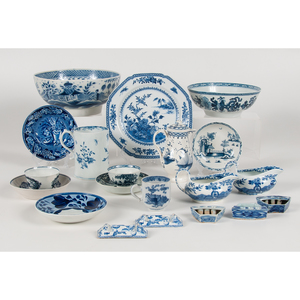 English Blue and White Porcelain, Late 18th-Early 19th Century, Plus