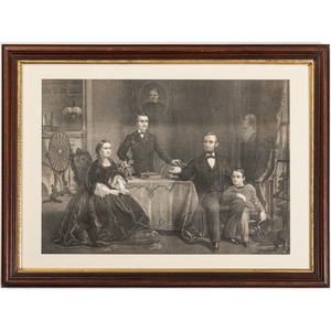 Haskell and Allen Lithograph, Abraham Lincoln and Family