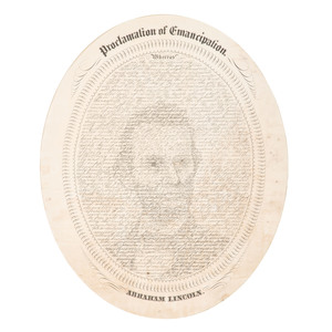 Abraham Lincoln, Portrait Formed From Text of the Emancipation Proclamation by William H. Pratt