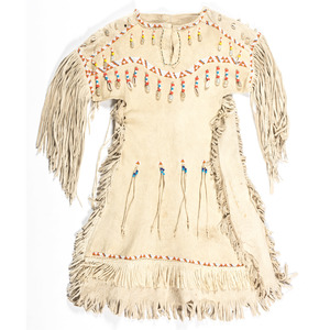 Northern Plains Beaded Hide Child's Dress