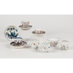 English Chinoiserie Teacups and Saucers