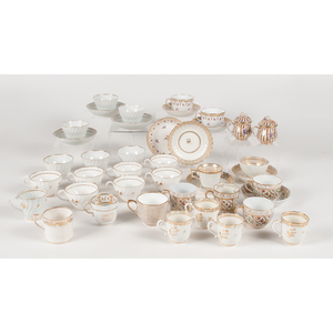 English Gilt Porcelain, Including 18th Century