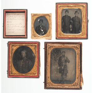 Cased Images of Civil War Soldiers, Incl. Union Pards, Lot of Seven