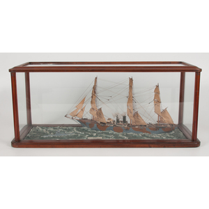 Cased Wooden Ship Model, UB18