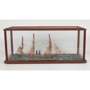 Cased Wooden Ship Model, UB18