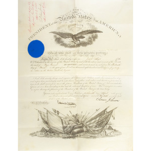 Brevet General Joseph Hayes, 18th Massachusetts Infantry, WIA and POW, Five Commission Documents