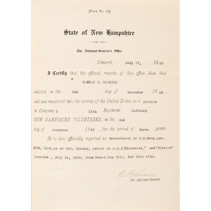 Civil War POW and Sailor Nathan Hopkins, Two CDVs and Typed Memoirs