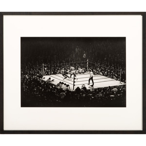 Elliott Erwitt, Silver Gelatin Photograph New York, 1971, Muhammad Ali vs. Joe Frazier in Fight of the Century