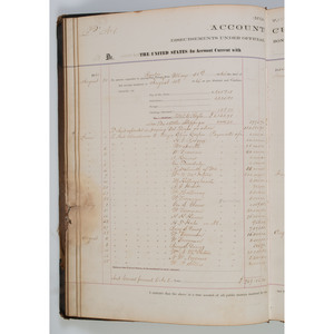 Civil War Paymaster's Ledger Recording Payments to Union Soldiers from the US Army Depository in Louisville, KY