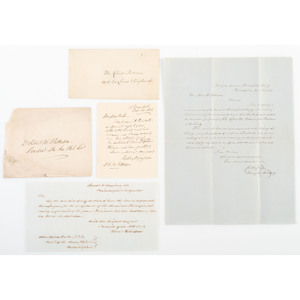 Thomas Jefferson, Signed American Philosophical Society Certificate for Member-Turned-President Robert M. Patterson, 1809, with Related Correspondence