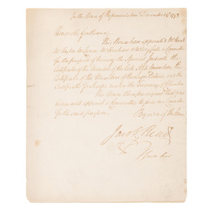 1793 Order of the South Carolina House of Representatives, Incl. Directive to Burn