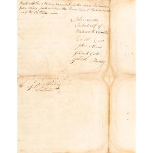 Revolutionary War Document Regarding French Army Hiring Blacksmiths Paid in Virginia Currency, December 1781