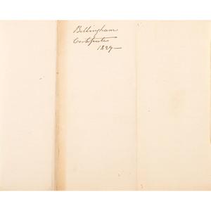 1829 Certificate of the Statesmen and Overseers of the Poor Describing Narrangansett Indian