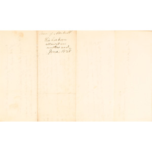 Rare 1828 Document from the Overseers of the Poor Regarding Jerusha Douglas of the Mohegan Tribe