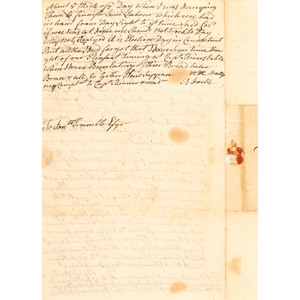 Extraordinary French and Indian War Letter, May 16, 1756, Describing Problems in Northern NY