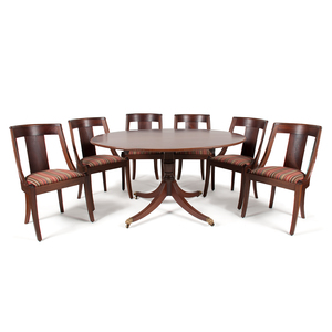 Neoclassical-Style Tilt-Top Table and Chairs