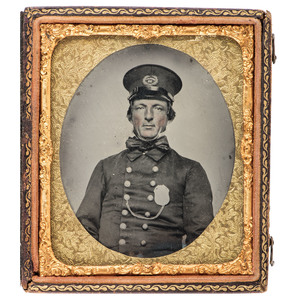 Sixth Plate Ambrotype of a Police Sergeant