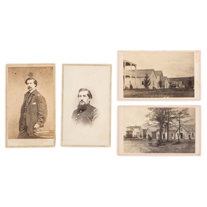 Civil War CDVs of Lovell General Hospital and Medical Staff