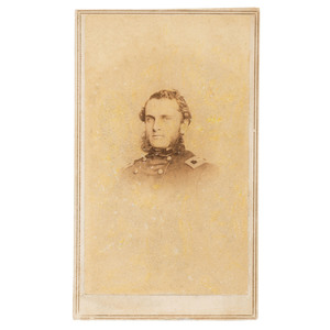 Colonel Strong Vincent, 83rd Pennsylvania Volunteers, KIA Gettysburg, CDV by Fredericks, New York
