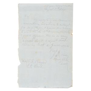CSA Brigadier General John H. Kelly, 1864 ALS to AAG Major E. Spruel Burford