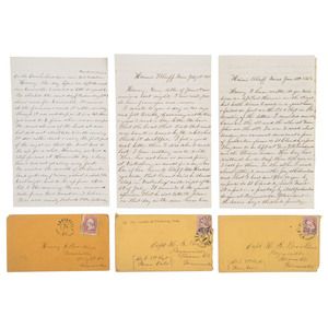 Fraternal Civil War Correspondence Between Corporal George W. Brookins, 3rd Minnesota Infantry, and Captain Harvey S. Brookins, 8th Minnesota Infantry, Lot of 54