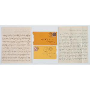 Fraternal Civil War Correspondence Between Corporal George W. Brookins, 3rd Minnesota Infantry, and Captain Harvey S. Brookins, 8th Minnesota Infantry, Lot of 54