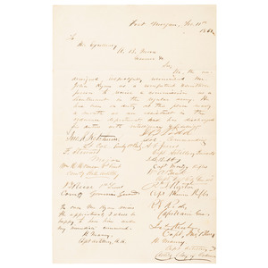CSA Petition Signed by Major General Robert E. Rodes as Captain of the Warrior Guards, 1861