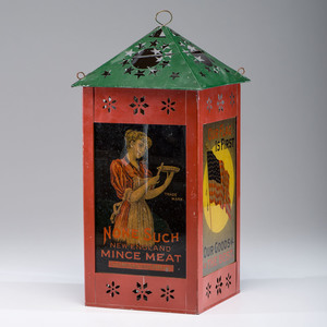 Patriotic None Such Mince Meat Advertising Lantern