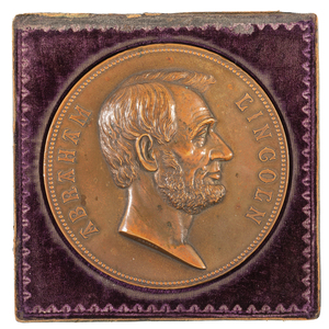 Abraham Lincoln Memorial USA Medal, Ca 1865