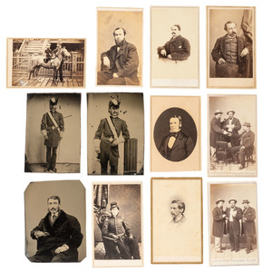 CDV Album Featuring Portraits by San Francisco Photographers, Including California Businessmen, Military Men, and Other 19th and 20th Century Personalities