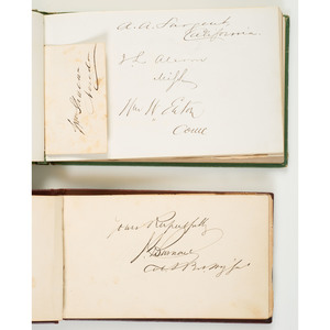 Pair of Civil War Autograph Books Containing Signatures of Union and Confederate Generals