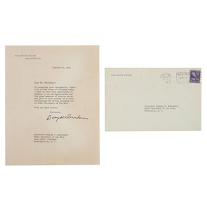 Francis P. Whitehair Archive, Former Under Secretary of the Navy, Typed Letters Signed by Eisenhower, Henry Fonda, and Others