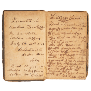 Inscribed Confederate Pocket Bible Belonging to Lucilius F. McGhee, Co. E, 15th Alabama Infantry