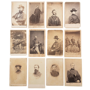 Exceptional Civil War-Era CDV Album Containing Portraits of Politicians, Generals, Reformers, and Other Notable Personalities