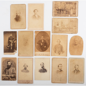 Civil War CDV Album Containing Portraits of Southern Politicians, Confederate Officers and Soldiers, Spies, and Other Personalities