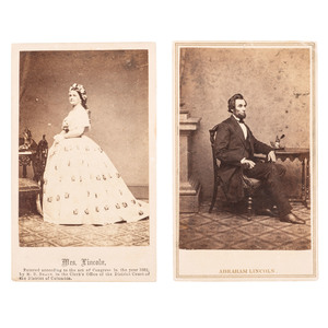 Abraham Lincoln and Mary Todd Lincoln CDVs