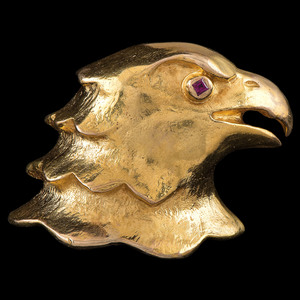Cartier 18k Gold Eagle Pin
