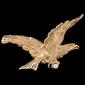 14k Gold Eagle Tie Clip