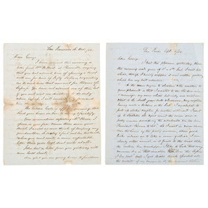 Exceptional San Francisco Gold Rush Era Letter Archive of James Hunter Phinney, Including Reference to the San Francisco Mint,1850-1854