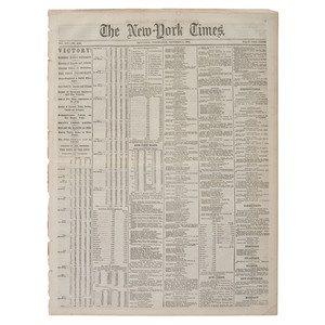Lincoln's Reelection Reported in the New York Times