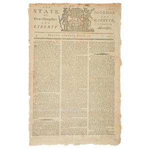 Revolutionary War Battle of Ridgefield Covered in New Hampshire Newspaper