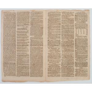 Pre-Revolutionary War Boston Newspaper with Paul Revere Masthead