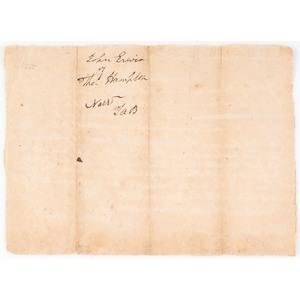 Andrew Jackson 1790 Manuscript Legal ADS