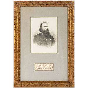 CSA General James Longstreet Clipped Signature