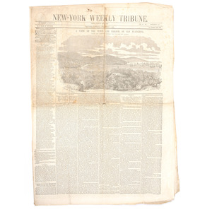 Gold Rush-Era View of San Francisco Featured in 1849 New York Weekly Tribune
