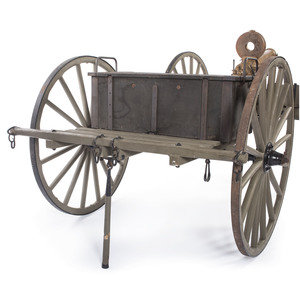 A Fine and Rare Colt Model 1883 Gatling Gun Complete With U.S. Army Field Carriage and Limber Dated 1887