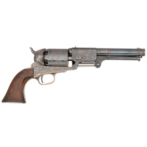 OLD ENTRY!!! WE NOW OWN- NEEDS NEW #  Deluxe Factory Exhibition Engraved English Hartford Colt Third Model Dragoon