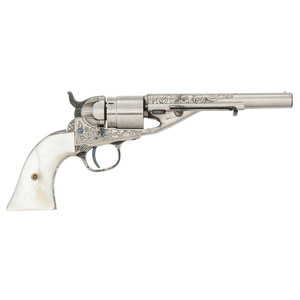 Factory Engraved Colt Pocket Navy Cartridge Conversion Revolver With Ejector