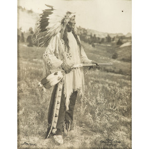 Sioux Chief Standing Bear, Silver Gelatin Photograph by Louis Bostwick