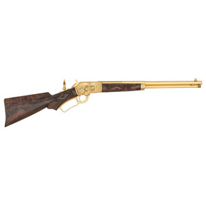 A Magnificent Ulrich Factory Engraved Gold Exhibition Marlin Model 1897 Rifle